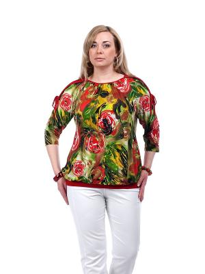 Блуза OLSI. Цвет: красный, зеленый