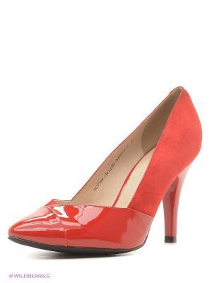 Туфли ANDRE KLEMA. Цвет: красный