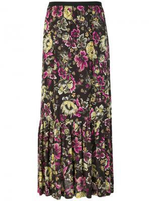 Юбка макси с цветочным принтом  IM Isola Marras I'M. Цвет: многоцветный