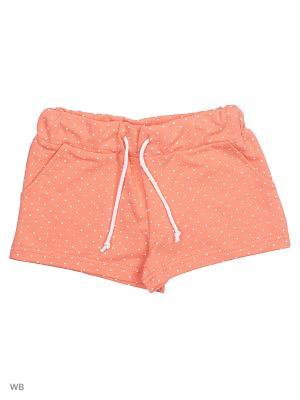 Трикотажные шорты Modis. Цвет: бледно-розовый, белый