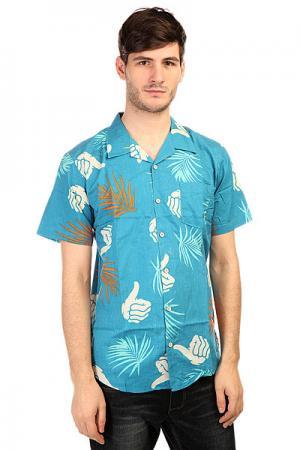 Рубашка  Tropic Print Shirt Blue Bro Style. Цвет: синий