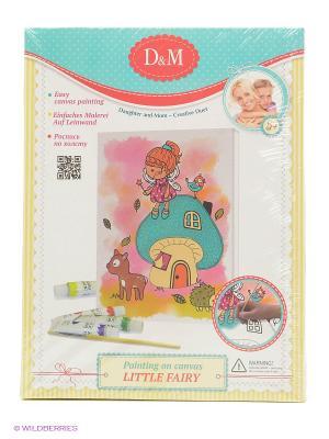 Роспись по холсту Маленькая фея Делай с мамой. Цвет: бирюзовый