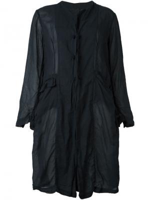 Однобортное пальто Daniela Gregis. Цвет: синий