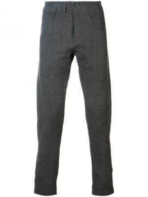 Прямые брюки Label Under Construction. Цвет: серый