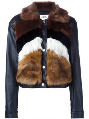 Куртка с контрастными рукавами Urbancode. Цвет: чёрный