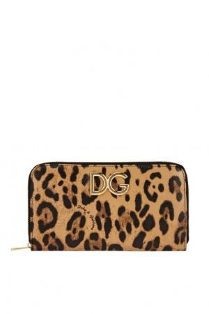 Кожаный кошелек Dolce&Gabbana. Цвет: multicolor