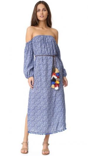 Платье с Fira MISA. Цвет: tu3