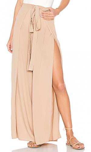 Широкие брюки eclipse Indah. Цвет: цвет загара