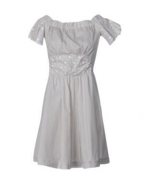Короткое платье PF PAOLA FRANI. Цвет: светло-серый