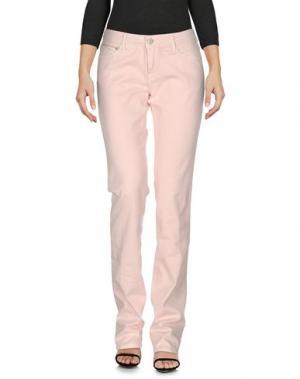 Джинсовые брюки CARE LABEL. Цвет: розовый