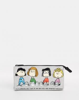Peanuts Пенал с 2 внутренними карманами. Цвет: мульти
