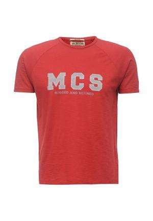 Футболка MCS. Цвет: красный