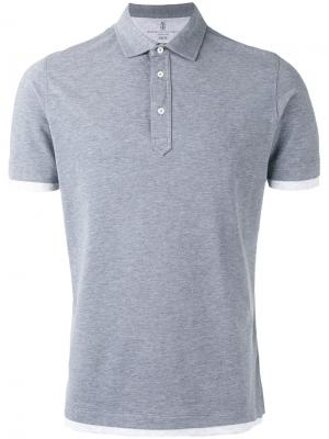 Рубашка-поло Brunello Cucinelli. Цвет: серый