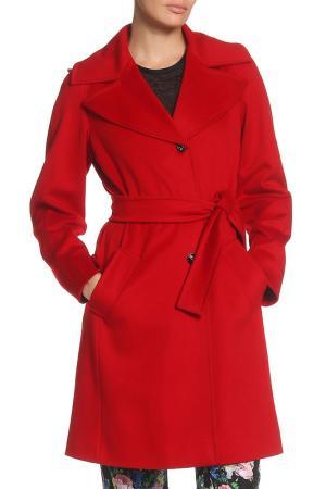 Пальто Marella. Цвет: красный