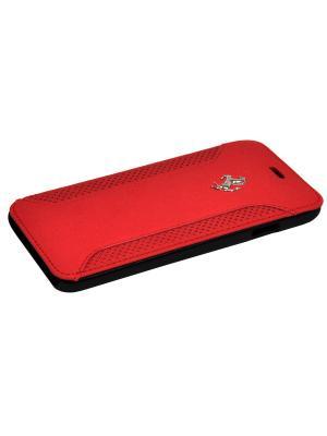 Чехол Ferrari для iPhone 6/6S F12 Booktype Red. Цвет: красный