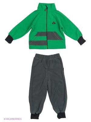 Комплект Полоска ЛисФлис. Цвет: зеленый, серый