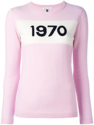 Джемпер 1970 Bella Freud. Цвет: розовый и фиолетовый
