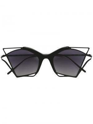 Солнцезащитные очки Twiggy Kyme. Цвет: чёрный