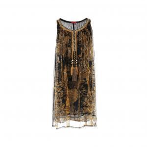Платье без рукавов с вышивкой и кисточками RENE DERHY. Цвет: рисунок темно-синий