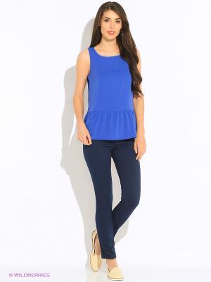 Блузка INCITY. Цвет: синий