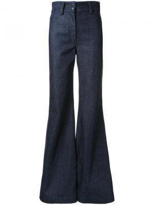 Расклешенные джинсы Vilshenko. Цвет: чёрный