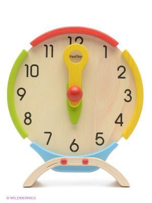Часы PLAN TOYS. Цвет: желтый