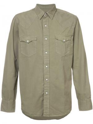 Рубашка с карманами Rrl. Цвет: зелёный