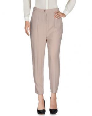 Повседневные брюки DEVOTION. Цвет: голубиный серый
