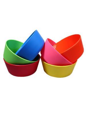 Салатник - 6 шт. Migura. Цвет: синий, зеленый, красный, оранжевый, розовый, желтый