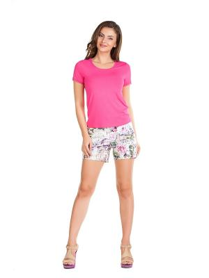 Шорты Femme. Цвет: бежевый, розовый, белый