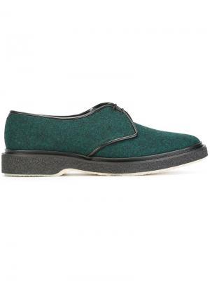 Туфли на шнуровке Type 1 Adieu Paris. Цвет: зелёный