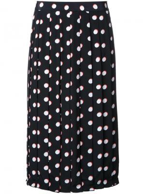 Плиссированная юбка в горох Marc Jacobs. Цвет: чёрный