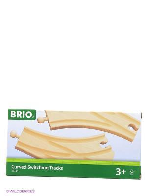 BRIO Ж/д полотно, раздваив., длина 14,4см, 2 элемента. Цвет: прозрачный