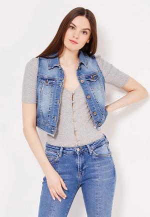 Жилет джинсовый Motivi. Цвет: синий