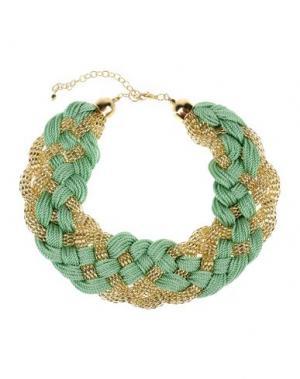 Ожерелье DETTAGLI. Цвет: светло-зеленый