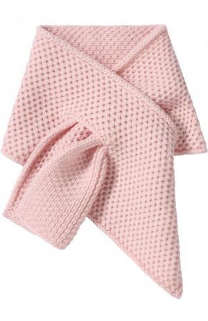 Кашемировый шарф фактурной вязки Loro Piana. Цвет: розовый