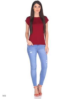 Блузка TACHIQUE. Цвет: бордовый