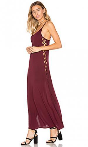 Платье миди uma Cleobella. Цвет: вишня