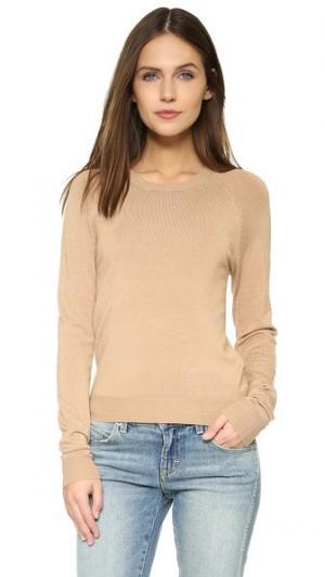 Пуловер Basic с округлым вырезом 525 America. Цвет: бисквит