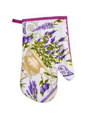 Фиолет Прихватка-варежка, полиэстер, 27см Vetta. Цвет: фиолетовый