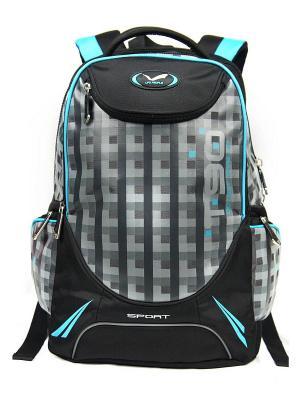 Рюкзак UFO PEOPLE. Цвет: черный, серый, голубой