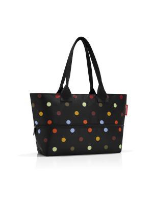 Сумка Shopper E1 dots Reisenthel. Цвет: черный,голубой,красный