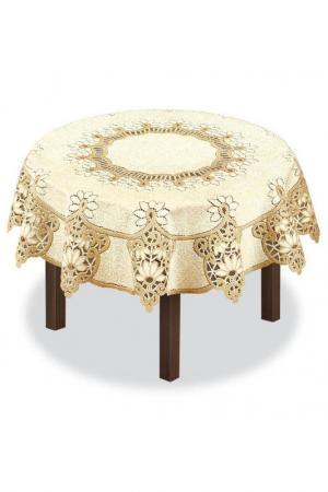 Скатерть Haft. Цвет: кремово-золотой