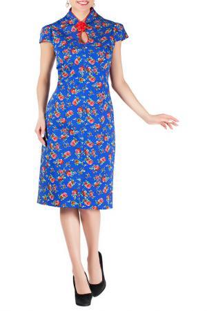 Платье Mannon. Цвет: сине-красный