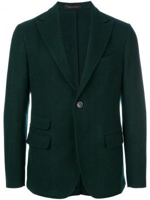 Пиджак с длинными рукавами The Gigi. Цвет: зелёный