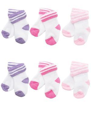 Носки детские махровые ,комплект 6 пар Malerba. Цвет: сиреневый, розовый