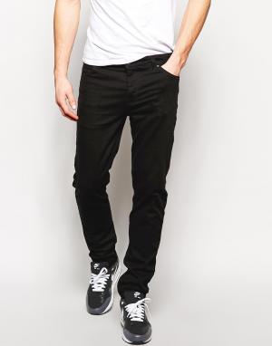 ASOS Черные зауженные джинсы. Цвет: черный