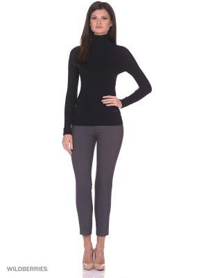 Женский вязаный свитер с длинными рукавами высоким воротником SMART&FANCY. Цвет: черный