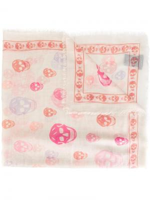 Шарф Skull Alexander McQueen. Цвет: розовый и фиолетовый