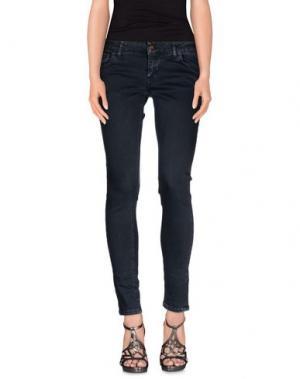 Джинсовые брюки DERRIÉRE. Цвет: свинцово-серый